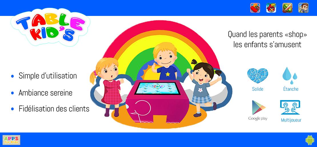 Table tactile enfant table kid's espace enfants