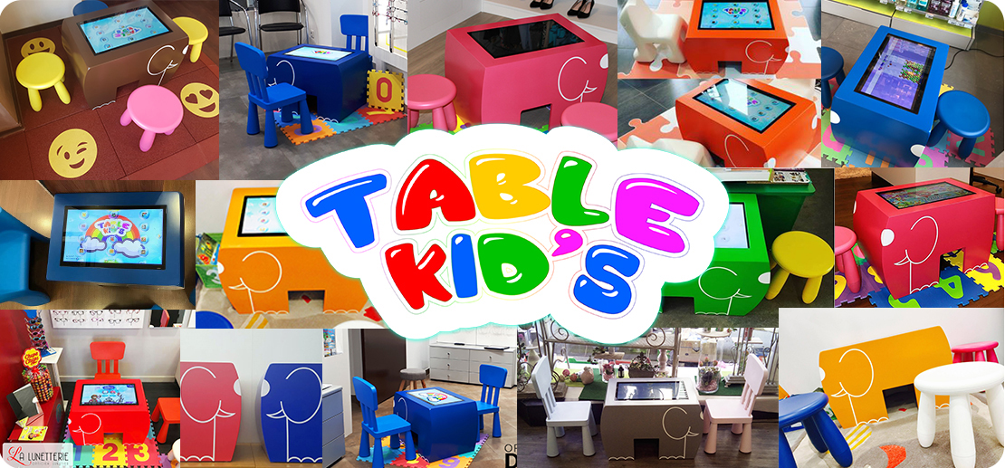 table tactile table kid's