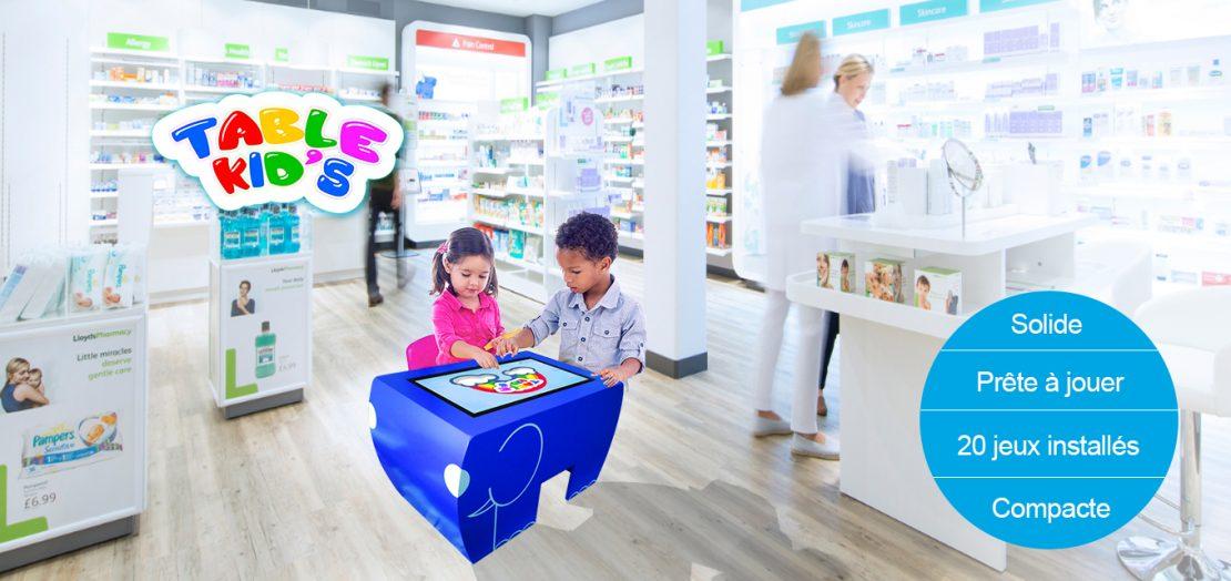 table tactile enfant pharmacie