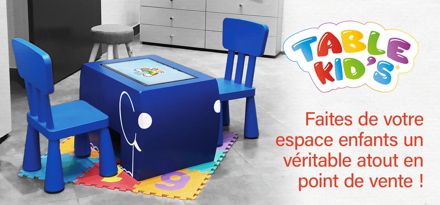 table kids table tactile enfants en magasin